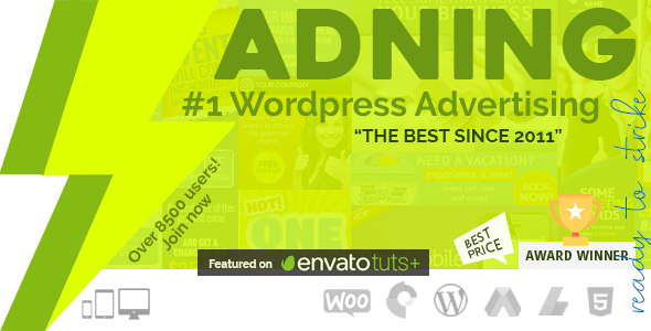 Download Adning Advertising  – All In One Ad Manager Wordpress Plugins gpl licenced not nulled not cracked for free
