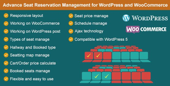 Download Advance Seat Reservation Management for WooCommerce Wordpress Plugins gpl licenced not nulled not cracked for free