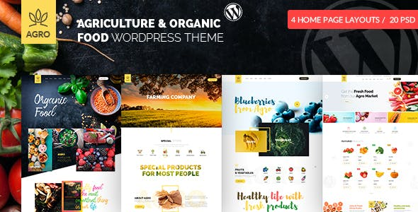 Download Agro  – Organic Food & Agriculture Theme wordpress themes gpl licenced not nulled not cracked for free
