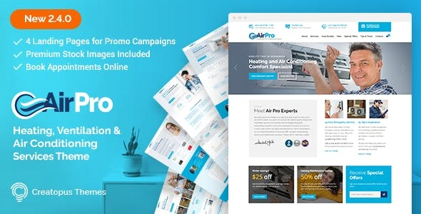 Download AirPro  – Heating and Air conditioning Theme wordpress themes gpl licenced not nulled not cracked for free