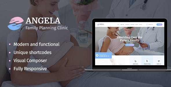 Download Angela  – Family Planning & Pregnancy Theme wordpress themes gpl licenced not nulled not cracked for free