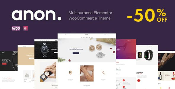 Download Anon  – Elementor WooCommerce Theme wordpress themes gpl licenced not nulled not cracked for free