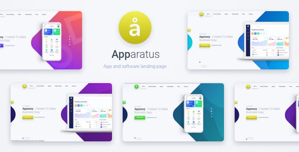 Download Apparatus  – One-Page Portfolio and App Landing wordpress themes gpl licenced not nulled not cracked for free