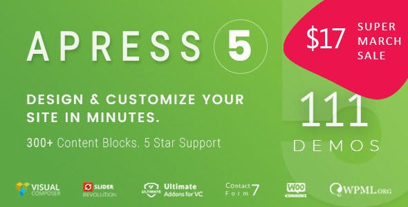 Download Apress  – Responsive Multi-Purpose Theme wordpress themes gpl licenced not nulled not cracked for free