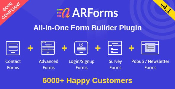Download ARForms  – WordPress Form Builder Plugin Wordpress Plugins gpl licenced not nulled not cracked for free