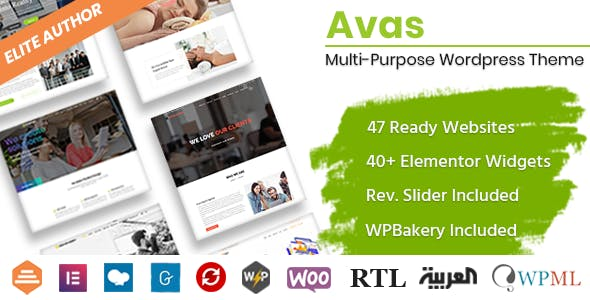 Download Avas  – Multi-Purpose WordPress Theme wordpress themes gpl licenced not nulled not cracked for free