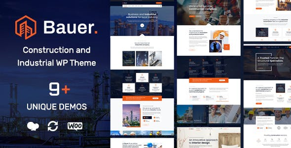 Download Bauer  – Construction and Industrial Theme wordpress themes gpl licenced not nulled not cracked for free
