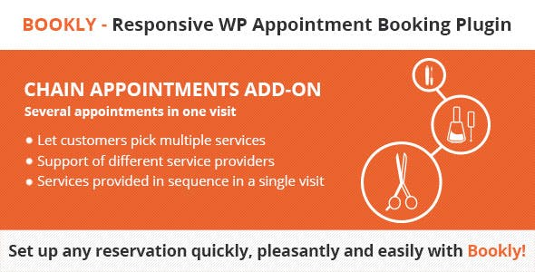 Download Bookly Chain Appointments (Add-on) Wordpress Plugins gpl licenced not nulled not cracked for free