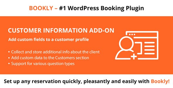 Download Bookly Customer Information Add-on Wordpress Plugins gpl licenced not nulled not cracked for free