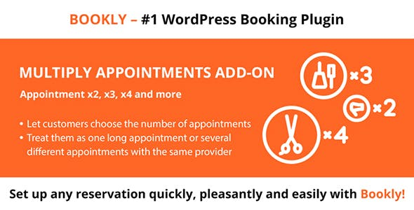 Download Bookly Multiply Appointments Add-on Wordpress Plugins gpl licenced not nulled not cracked for free