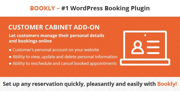 Download Bookly Pro Customer Cabinet Add-on Wordpress Plugins gpl licenced not nulled not cracked for free