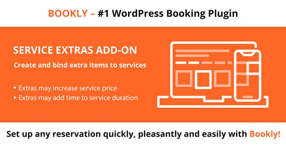 Download Bookly Pro Service Extras (Add-on) Wordpress Plugins gpl licenced not nulled not cracked for free