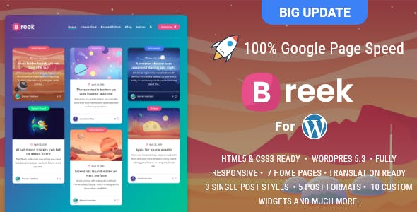 Download Breek  – Minimal Masonry Theme for WordPress wordpress themes gpl licenced not nulled not cracked for free