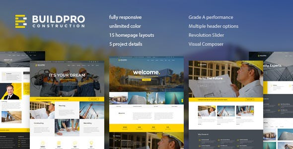 Download BuildPro  – Business & Construction Theme wordpress themes gpl licenced not nulled not cracked for free