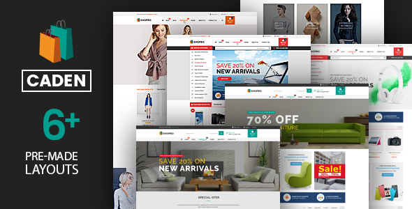 Download Caden  – Mega Store Responsive Theme wordpress themes gpl licenced not nulled not cracked for free