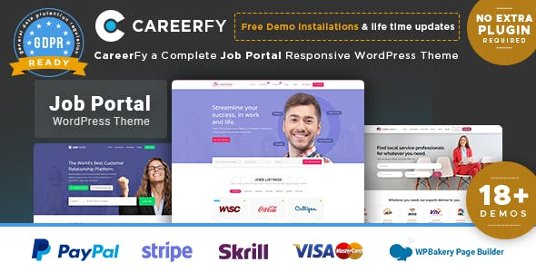 Download Careerfy  – Job Board WordPress Theme wordpress themes gpl licenced not nulled not cracked for free