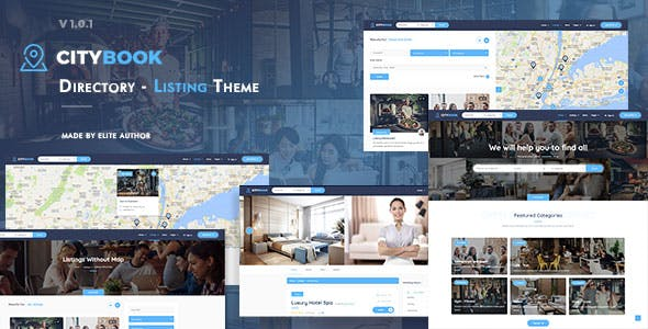 Download CityBook  – Directory & Listing Theme wordpress themes gpl licenced not nulled not cracked for free