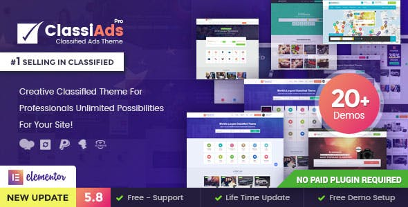 Download Classiads  – Classified Ads WordPress Theme wordpress themes gpl licenced not nulled not cracked for free
