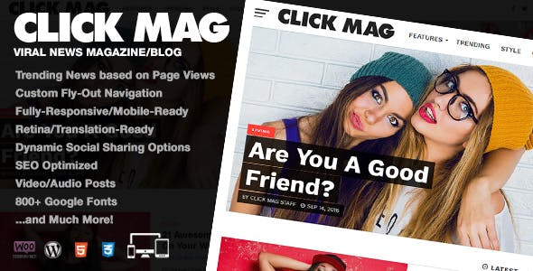 Download Click Mag  – Viral News Magazine/Blog Theme wordpress themes gpl licenced not nulled not cracked for free