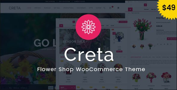 Download Creta  – Flower Shop WooCommerce Theme wordpress themes gpl licenced not nulled not cracked for free