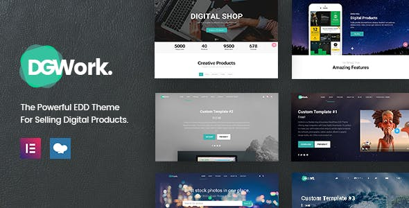 Download DGWork  – Easy Digital Downloads Theme wordpress themes gpl licenced not nulled not cracked for free