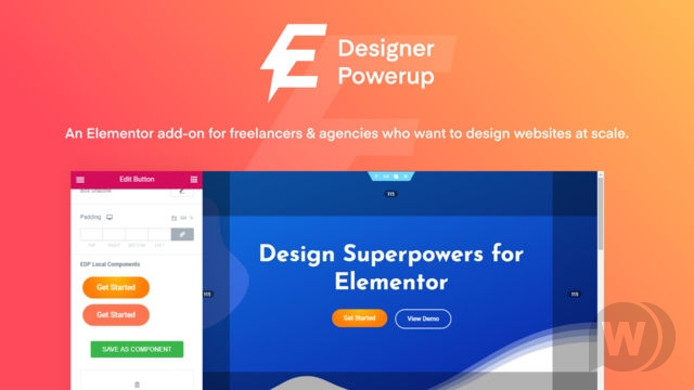 Download Designer Powerup for Elementor WordPress Plugins gpl licenced not nulled not cracked for free