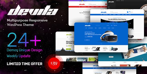 Download Devita  – Multipurpose WooCommerce Theme wordpress themes gpl licenced not nulled not cracked for free