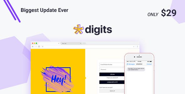 Download Digits  – Mobile Number Signup and Login Wordpress Plugins gpl licenced not nulled not cracked for free