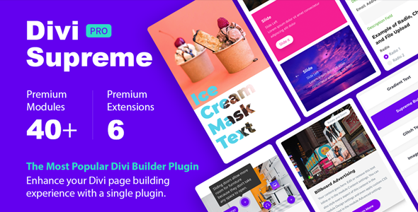 Download Divi Supreme  – Custom Divi Modules Wordpress Plugins gpl licenced not nulled not cracked for free