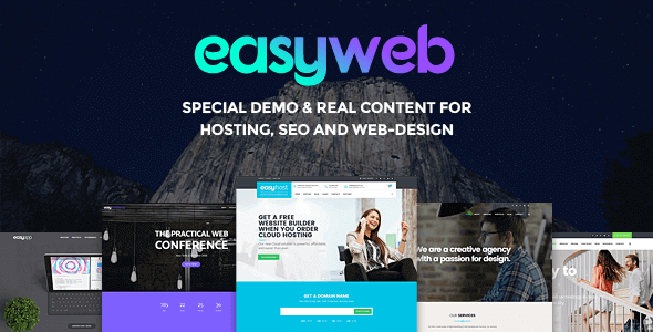 Download EasyWeb  – WP Theme For Hosting & Agencies wordpress themes gpl licenced not nulled not cracked for free