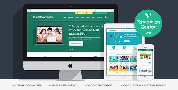 Download Education Center  – LMS University & School wordpress themes gpl licenced not nulled not cracked for free