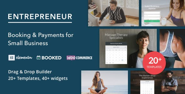Download Entrepreneur  – Booking for Small Businesses wordpress themes gpl licenced not nulled not cracked for free