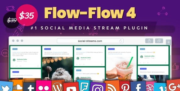 Download Flow-Flow  – Social Stream Plugin Wordpress Plugins gpl licenced not nulled not cracked for free