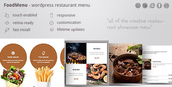 Download FoodMenu  – Restaurant Menu Showcase Wordpress Plugins gpl licenced not nulled not cracked for free