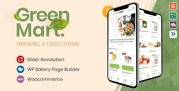 Download GreenMart  – Organic WooCommerce Theme wordpress themes gpl licenced not nulled not cracked for free