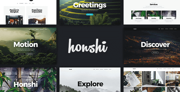 Download Honshi  – Creative Multi Purpose Theme wordpress themes gpl licenced not nulled not cracked for free