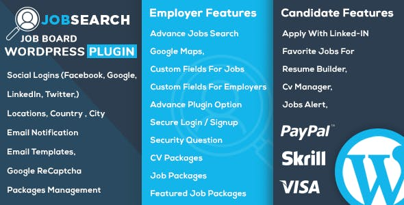 Download JobSearch WP Job Board Wordpress Plugins gpl licenced not nulled not cracked for free
