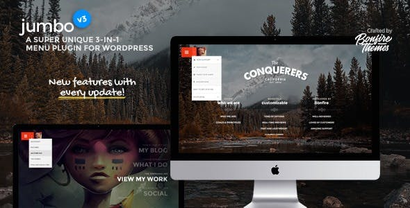 Download Jumbo  : -in- full-screen menu for WordPress Wordpress Plugins gpl licenced not nulled not cracked for free