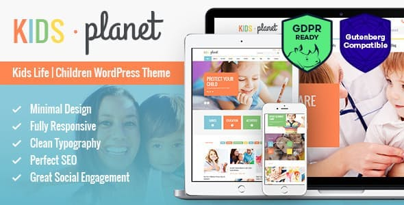 Download Kids Planet  – A Multipurpose Children Theme wordpress themes gpl licenced not nulled not cracked for free