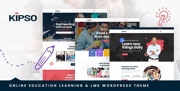 Download Kipso  – Education LMS WordPress Theme wordpress themes gpl licenced not nulled not cracked for free