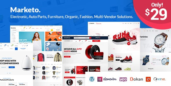 Download Marketo  – eCommerce & Multivendor Theme wordpress themes gpl licenced not nulled not cracked for free