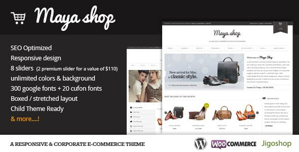 Download MayaShop  – A Flexible e-Commerce Theme wordpress themes gpl licenced not nulled not cracked for free
