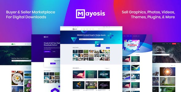 Download Mayosis  – Digital Marketplace Theme wordpress themes gpl licenced not nulled not cracked for free