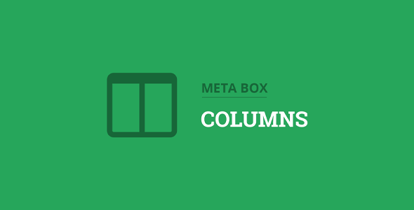 Download Meta Box Columns Extension Wordpress Plugins gpl licenced not nulled not cracked for free