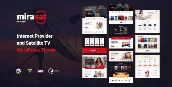 Download Mirasat  – Internet Provider and Satellite TV wordpress themes gpl licenced not nulled not cracked for free