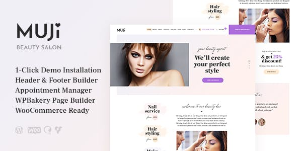 Download Muji  – Beauty Shop & Spa Salon Theme wordpress themes gpl licenced not nulled not cracked for free
