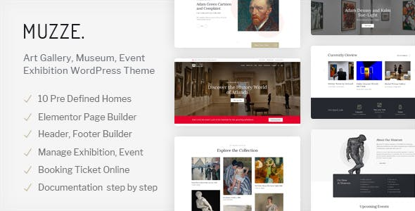 Download Muzze  – Museum Art Gallery Exhibition Theme wordpress themes gpl licenced not nulled not cracked for free