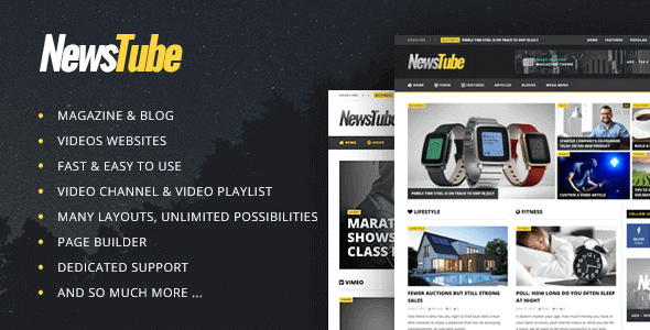 Download NewsTube  – Magazine Blog & Video wordpress themes gpl licenced not nulled not cracked for free