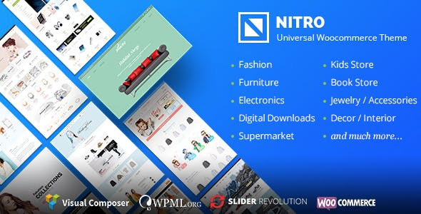 Download Nitro  – Universal WooCommerce Theme wordpress themes gpl licenced not nulled not cracked for free