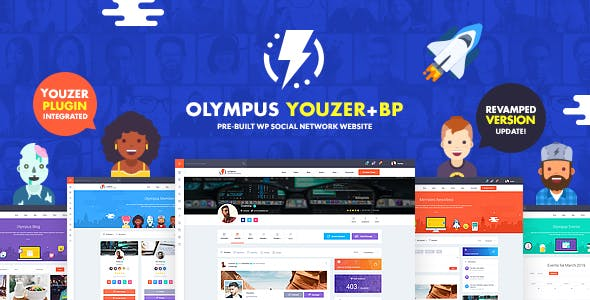 Download Olympus  – BuddyPress Theme Social Network wordpress themes gpl licenced not nulled not cracked for free